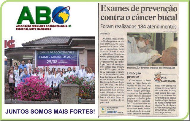 ABO-NH PARTICIPA DA CAMPANHA DE PREVENÇÃO AO CÂNCER DE BOCA